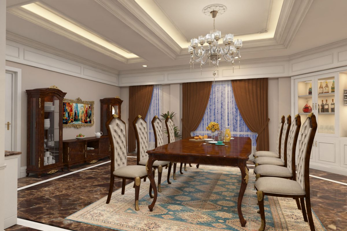 Vintage Royal Dining Table 3D Design