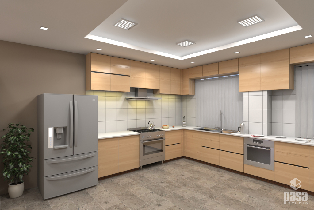 3D Interior Design for Office Kitchen
