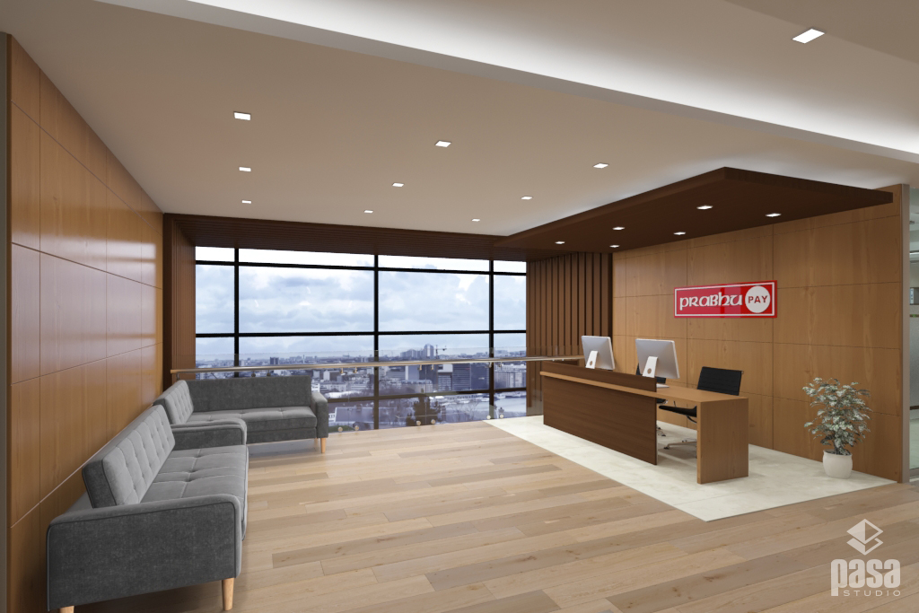 Prabhu Pay Lobby Room 3D Interior Design