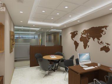 prabhu money transfer interior with worldmap