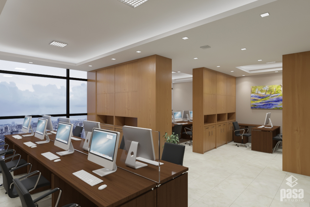 3D Interior Modern Office Design