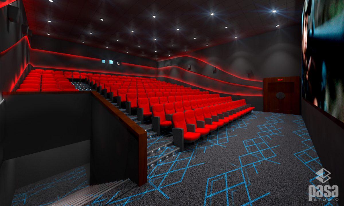 Cinema Hall Red Theme Cineplex