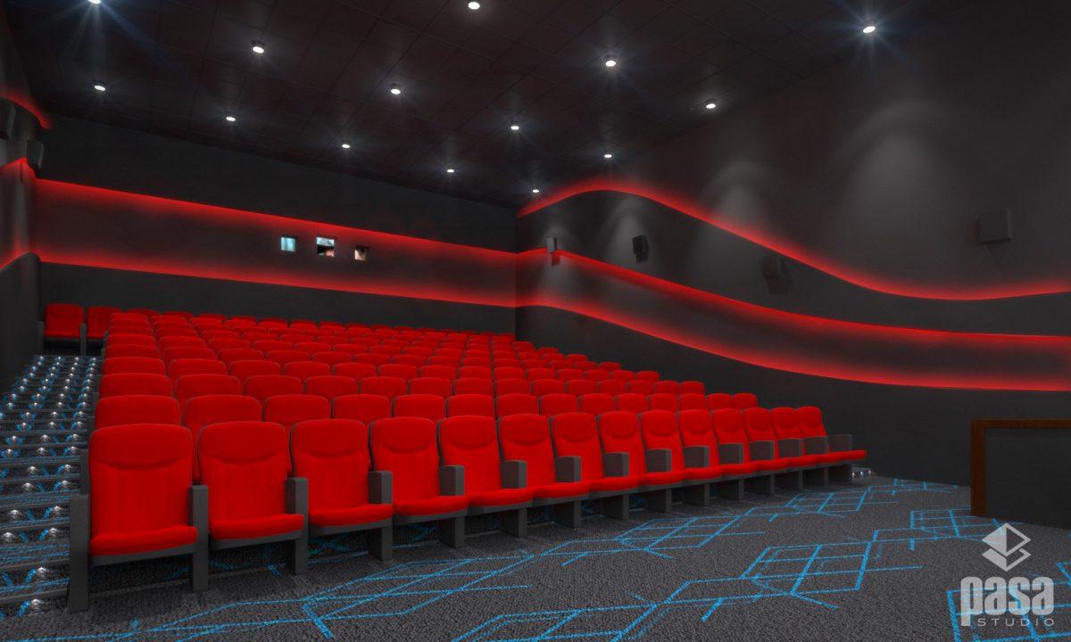 3D Interior Cinema Hall