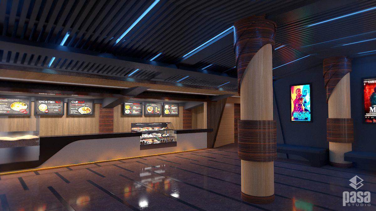 Chitwan Cineplex Lounge 3D Render