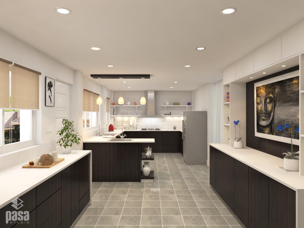 3D Interior Design Render Modern Kitchen