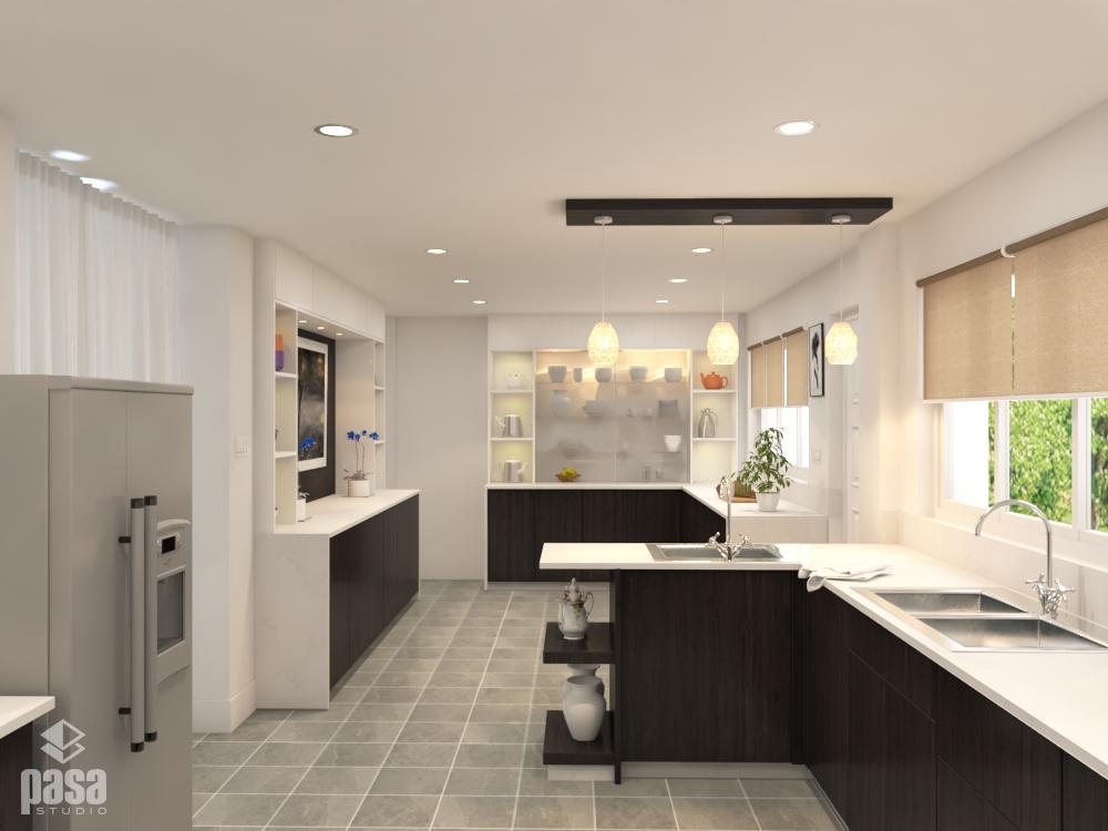 3D Interior Design Modern Kitchen